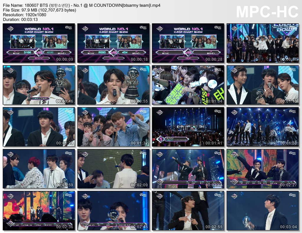 8dbq 180607 bts (%EB%B0%A9%ED%83%84%EC%86%8C%EB%85%84%EB%8B%A8)   no.1 m countdown[btsarmy team]l.mp4 thumbs - Video] BTS at Mnet Mcountdown [180607] #FakeLove9thWin]